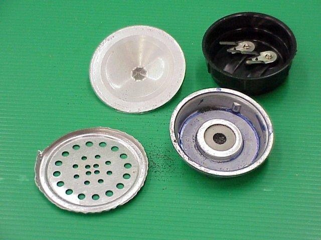 החלקים המרכיבים את המיקרופון הפחמי