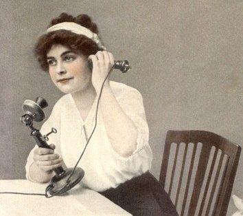 שימוש בטלפון של פעם