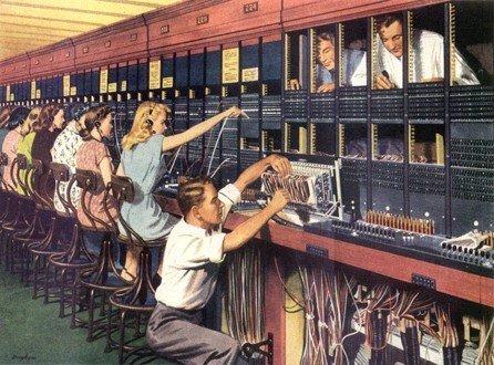 נשים עובדות מרכזיות הטלפון הידניות