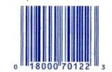 תצלום קוד פסים אוניברסלי ממוצר מזון