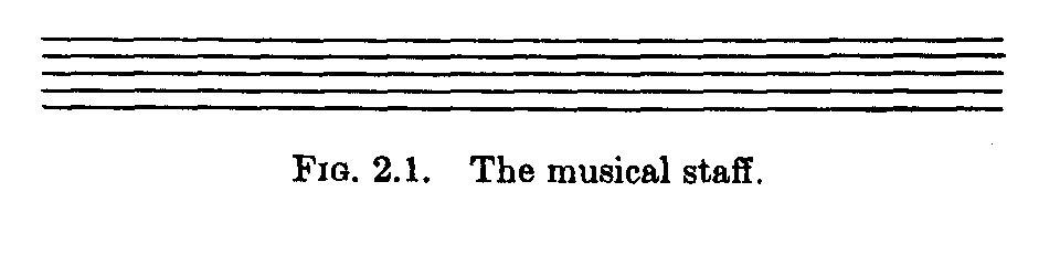 תווי מוזיקה על מערך של 5 קווים ישרים אופקיים