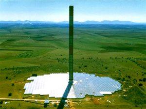 דוגמה למגדל חממה שהוקם ב-1982 בספרד