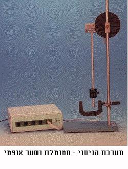 מערכת הניסוי-מטוטלת ושער אופטי